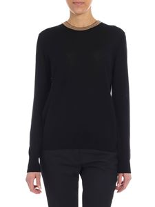 Forte Forte - Black pullover with lamé detail
