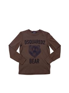 "Dsquared2 - Army green ""Bear"" crew-neck T-shirt"