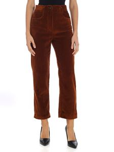 "Tela - Brown ""Obiettivo"" corduroy trousers"