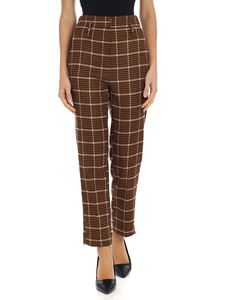 "Tela - Brown pied de poule ""Zen/Check"" trousers"
