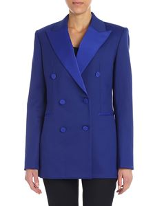 Theory - Electric blue double-breasted jacket