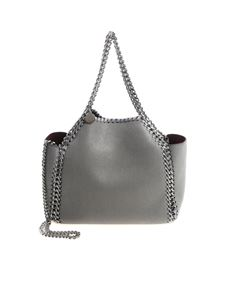 Stella McCartney - Reversible grey mini tote bag
