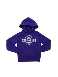 Dsquared2 - Blue cotton hoodie with logo