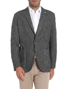 L.B.M. 1911 - Black and grey houndstooth jacket