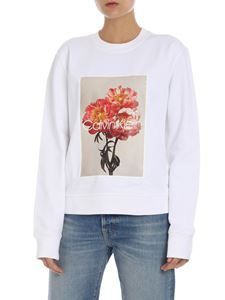 Calvin Klein - White sweatshirt with multicolor print