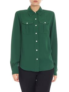 Calvin Klein - Green shirt with contrasted trim