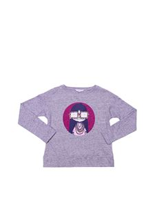 Little Marc Jacobs - T-shirt girocollo grigia stampata