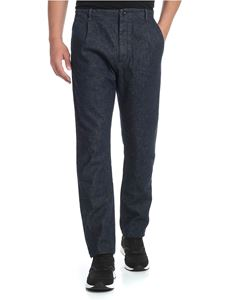 Nine in the morning - Jeans blu scuro con logo