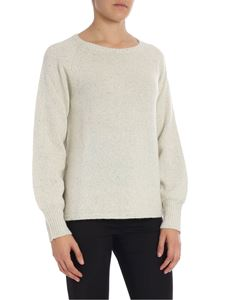 Kangra Cashmere - Cream color overfit pullover