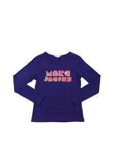 Little Marc Jacobs - T-shirt manica corta blu con logo