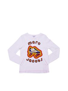 Little Marc Jacobs - T-shirt bianca manica lunga