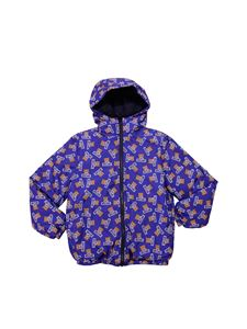Moschino Kids - Printed blue padded jacket