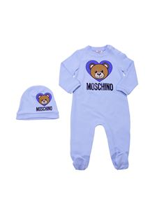 "Moschino Kids - Light blue set with ""Teddy"" logo"