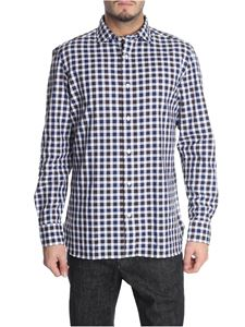 Luigi Borrelli - White and brown checked shirt