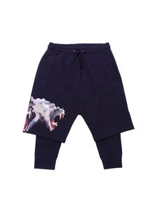 "Marcelo Burlon Kids - Pantalone ""Monkeys"" nero"