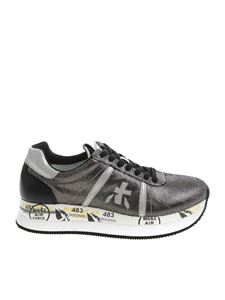 "Premiata - Black and silver ""Conny"" sneakers"