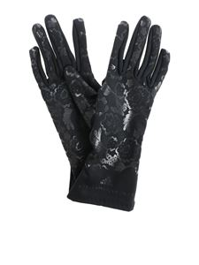 "Adidas by Stella McCartney - Black ""run"" gloves with logo"