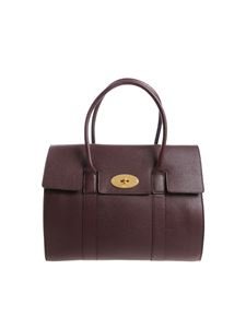 "Mulberry - Dark burgundy ""Bayswater"" bag"