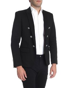 Balmain - Black jacket with peak lapel