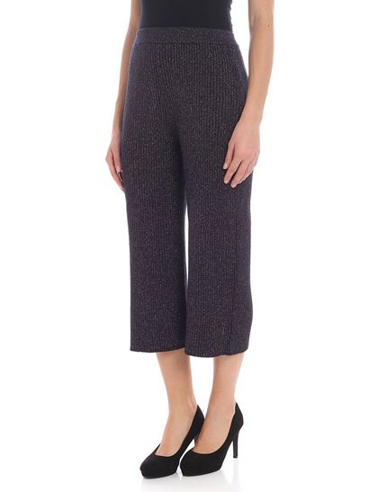 Kenzo - Dark blue trousers with lamé insert