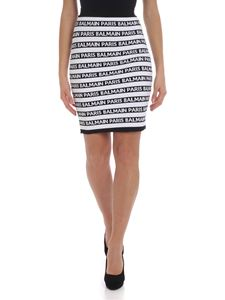 Balmain - Black and white skirt with logo