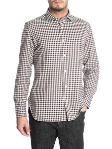 Luigi Borrelli - Burgundy and grey checked shirt