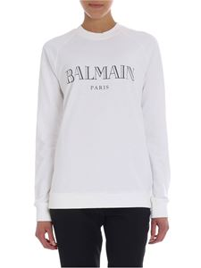 Balmain - Cream sweater with logo