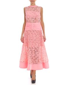 Self-Portrait - Pink floral lace dress
