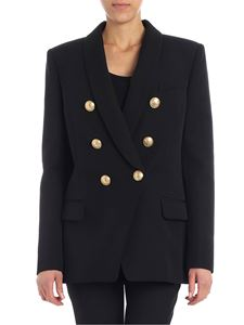 Balmain - Black double-breasted jacket