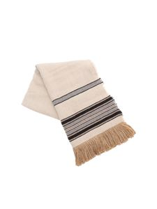 Isabel Marant - Ecru scarf with striped pattern