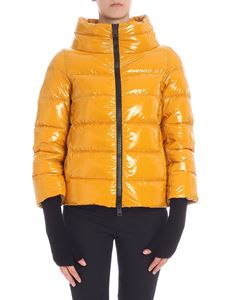 Herno - Yellow cowl neck down jacket