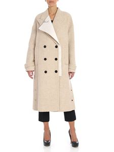 Karl Lagerfeld - Beige double-breasted coat