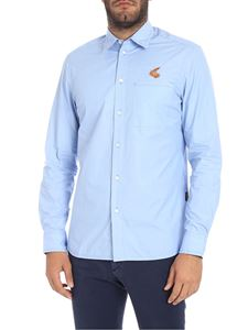 "Vivienne Westwood Anglomania - Light blue ""Chaos"" shirt with patch pocket"