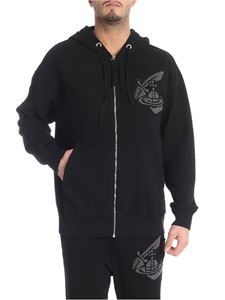"Vivienne Westwood Anglomania - Black ""Chaos"" hoodie with logo"