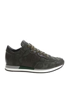 "Philippe Model - Green ""Tropez L"" camouflage sneakers"