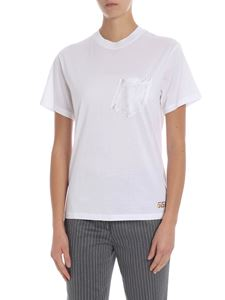 Golden Goose Deluxe Brand - White t-shirt with patch pocket