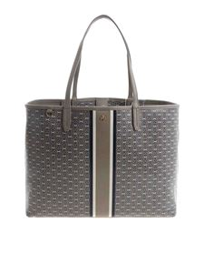 "Tory Burch - ""Gemini Link"" taupe color shopping bag"