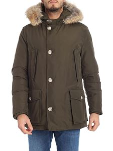 "Woolrich - ""Artic Anorak"" green down jacket"