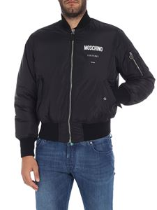 Moschino - Black bomber jacket with logo
