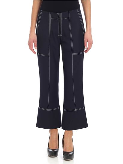 Kenzo - Blue stretch fabric trousers