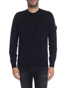 Stone Island - Blue wool and silk sweater