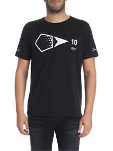 Stone Island - Black t-shirt with white print