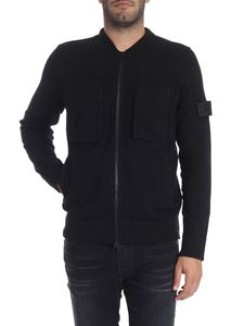 Stone Island - Black cardigan with zip