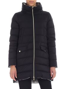 Herno - Reversible black quilted down jacket
