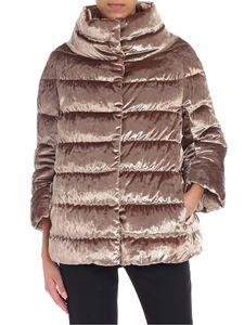 Herno - Champagne lurex effect down jacket