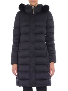 Herno - Black down jacket with fur