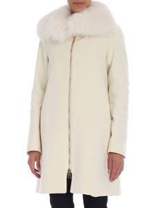 Herno - White coat with fur