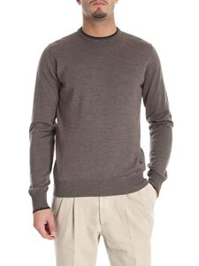 Fay - Brown pullover with black patches