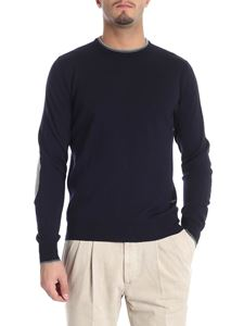 Fay - Blue pullover with grey patches