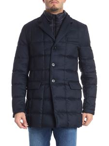 Fay - Blue tweed down jacket